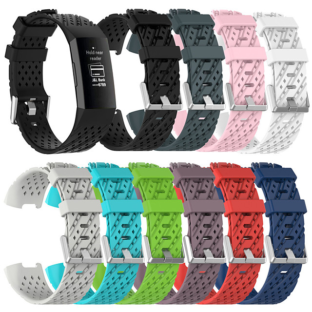 Breathable Silicone Sport Strap For Fitbit Charge 4 / Fitbit Charge 3