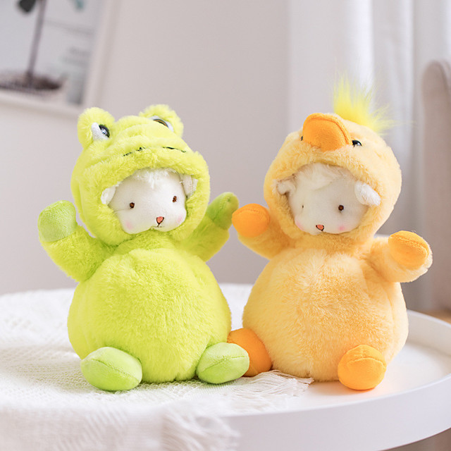 1 pcs Stuffed Animal Pillow Plush Doll Sofa Toys Plush Toys Plush Dolls Stuffed Animal Plush Toy Sheep Cartoon Characters Realistic Soothing PP Plush Imaginative Play, Stocking, Great Birthday Gifts