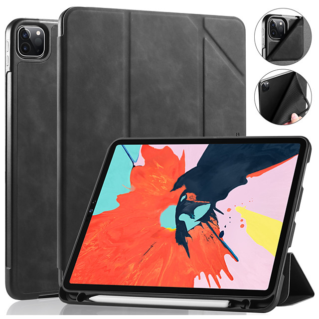 DG.MING Case For Apple iPad 10.2 2019 Shockproof Auto Sleep / Wake Up Solid Colored Luxury PU Leather For iPad Air3 10.5 2019 / iPad Pro 10.5 Case Cover