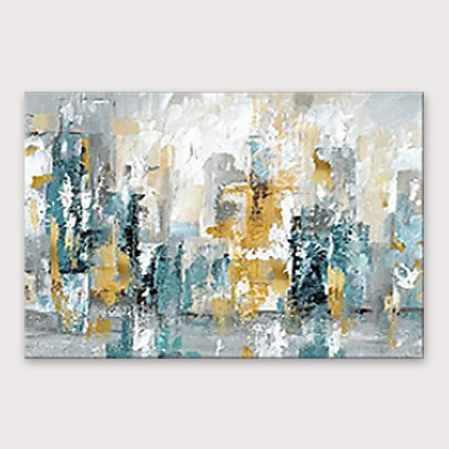 IARTS®Hand Painted Smoky city Oil Painting   with Stretched Frame For Home Decoration
