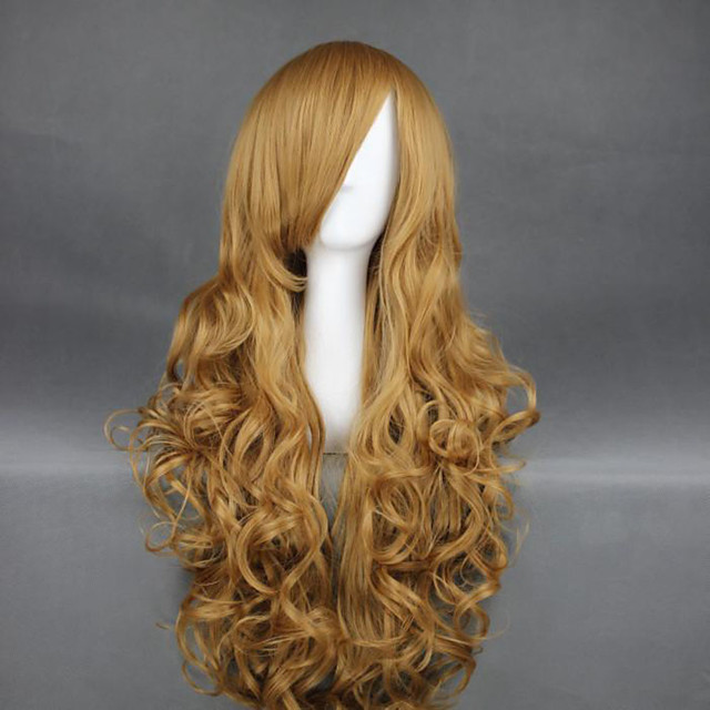 Cosplay Costume Wig Cosplay Wig Taiga Aisaka Curly Cosplay Asymmetrical Wig Blonde Very Long Blonde Synthetic Hair 36 Inch Women S Anime Cosplay Sexy Lady Blonde 8060617 2020 14 99