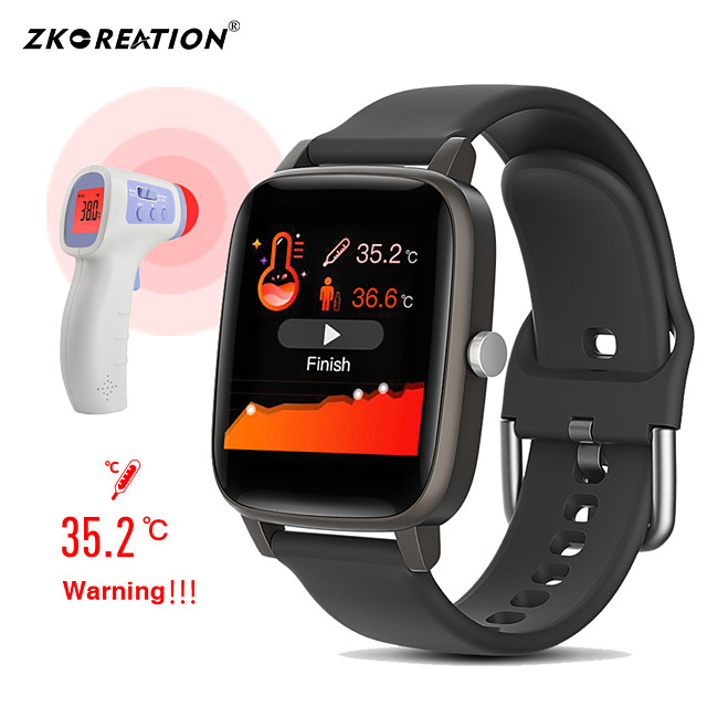 T98S Smart watch Body Temperature Measurement Heart Rate monitor Blood Pressure Fitness Tracker Sport smartwatch
