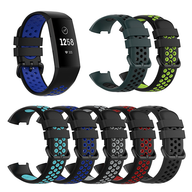 Silicone Replacement Watch Band for Fitbit Charge 3 / Fitbit Charge 4 Elegant Watch Comfortable Element Silicone Replacement Strap for Fitbit Charge 3 / Fitbit Charge 4