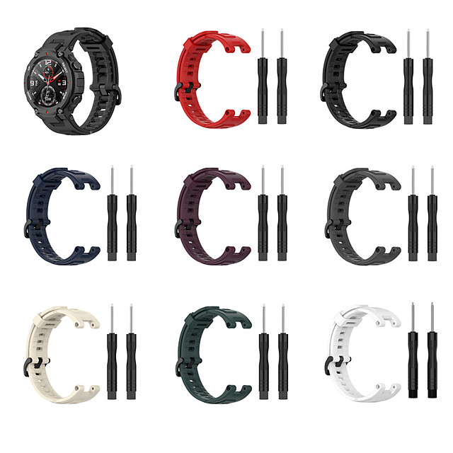Watch Band for Amazfit T-Rex A1918 Amazfit Sport Band Classic Buckle Silicone Wrist Strap