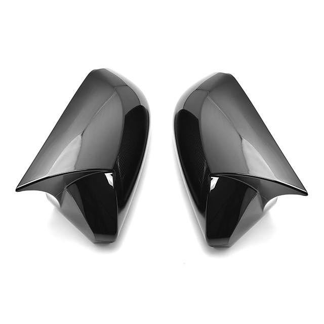 Horn Glossy Black Rear View Side Car Mirror Cover Caps Fit For Toyota Camry 2018 Avalon 2019 C-HR 2016-2018