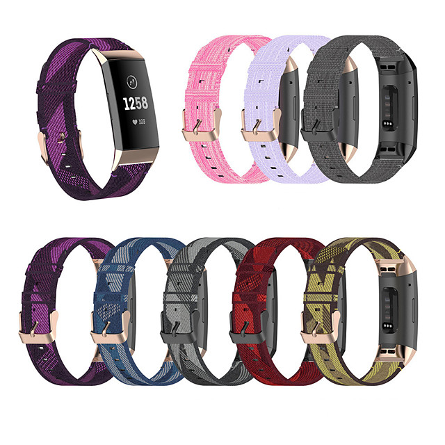 Watch Band for Fitbit Charge 3 / Fitbit charge3 / Fitbit Charge 4 Fitbit Sport Band Nylon Wrist Strap