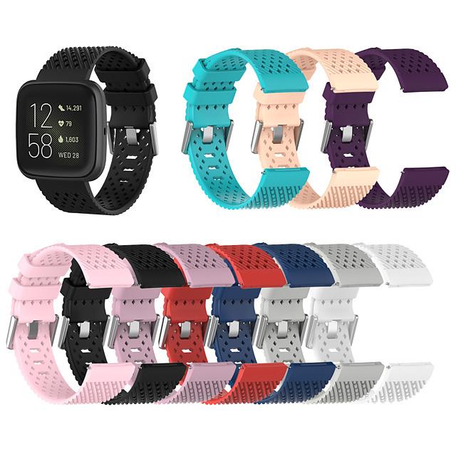 Breathable Silicon Wrist Strap For Fitbit Versa Versa Lite Versa 2 Band Soft
