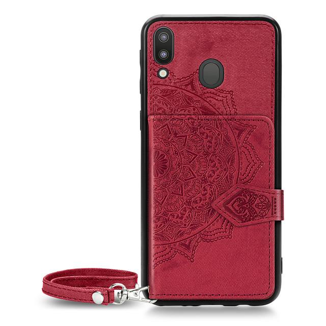 Case For Samsung Galaxy Galaxy J4 Plus(2018) / Galaxy J6 Plus(2018) / Galaxy M10(2019) Wallet / Card Holder / Pattern Back Cover Flower Oxford Cloth