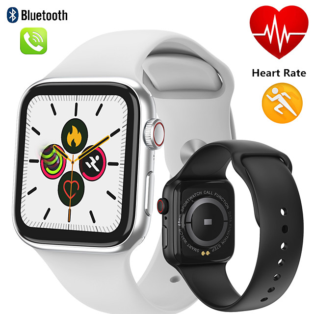 W66 smart watch ซีรีส์ 5 เต็มสัมผัสผู้หญิง s mart w atch ผู้ชายสร้อยข้อมือติดตามการออกกำลังกาย h eart rate monitor บลูทู ธ โทร pk q99 w68