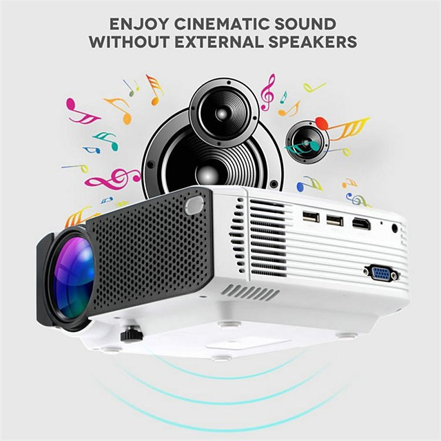 E400 Basic Version 1600 lms Mobile Phone Projector Home Wireless Home Theater and Entertainment