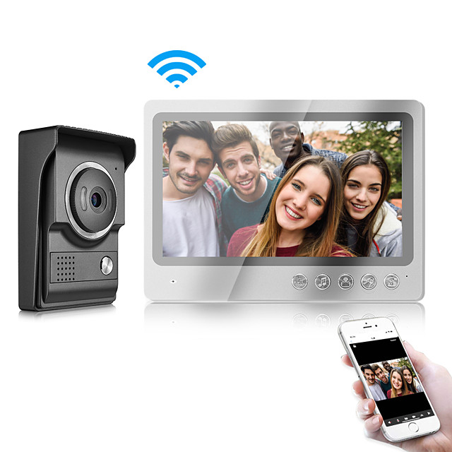 Two Way IOS/Android Smart Phone Control Doorbell with WIFI 9 inch Monitor and Waterproof Cover Camera Video Door Phone Intercom System