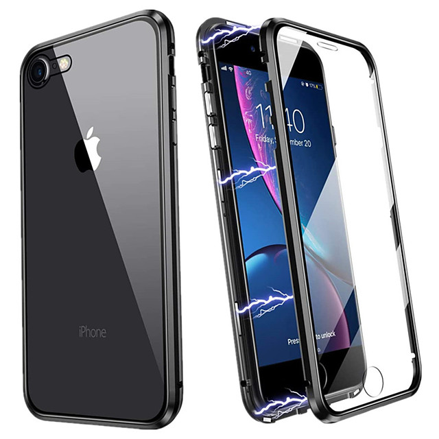 Magnetic Case for iPhone SE 2020 11 11 Pro 11 Pro Max XS Max XR XS X 8 8 Plus 7 7 Plus 6 6Plus 6s 6sPlus Double Sided Tempered Glass Phone Protective Case