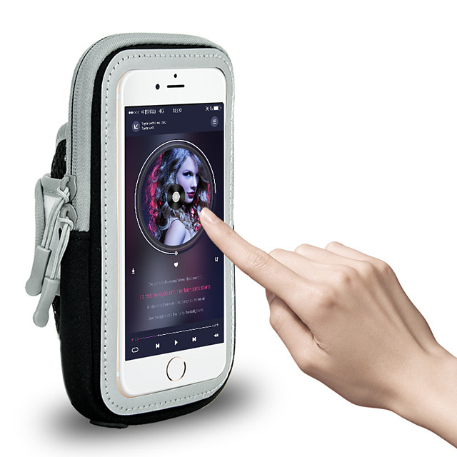 Phone Armband Running Armband for Running Hiking Outdoor Exercise Traveling Sports Bag Reflective Adjustable Waterproof Waterproof Material Men's Women's Running Bag Adults