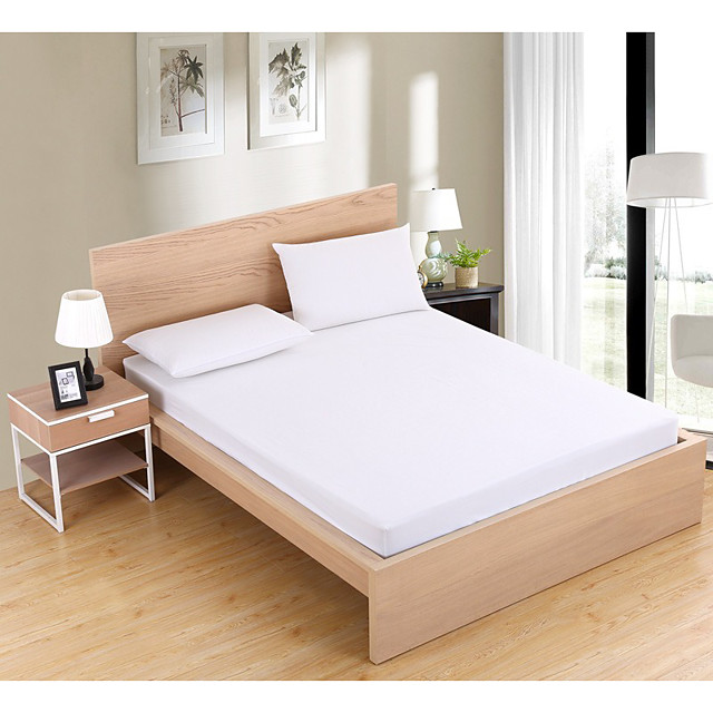 Bedding Fitted Sheet Soft Brushed Microfiber  Deep Pockets Shrinkage and Fade Resistant Easy Care (1 Fitted Sheet Only)