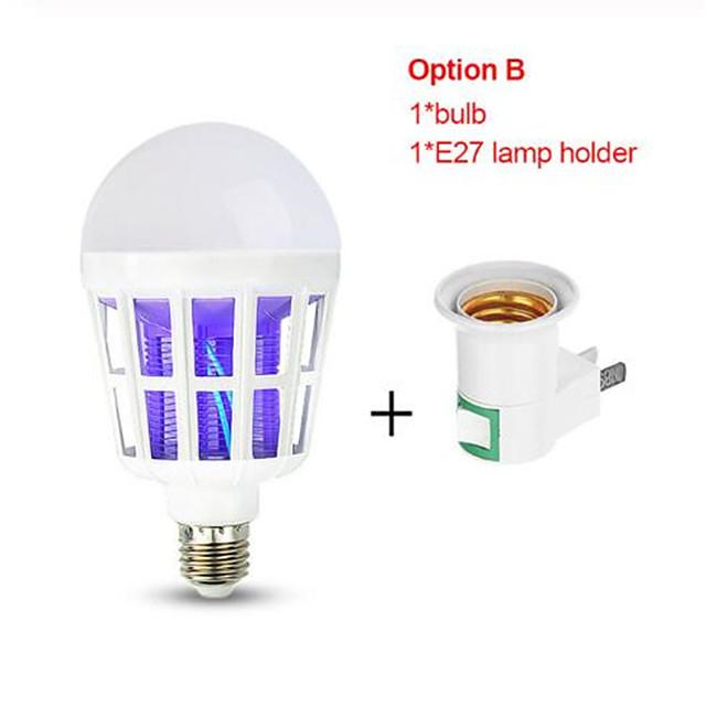 20V E27 UV LED Bulb 15W Mosquito Killer Lamp 2 In 1 Mosquito Trap Insect Killer Light Bulb Fly Bug Zapper Night Light For Baby