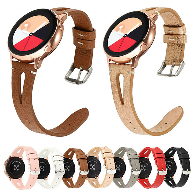 22mm Watchband For Samsung Gear S3 Galaxy Watch 46mm Leather Strap