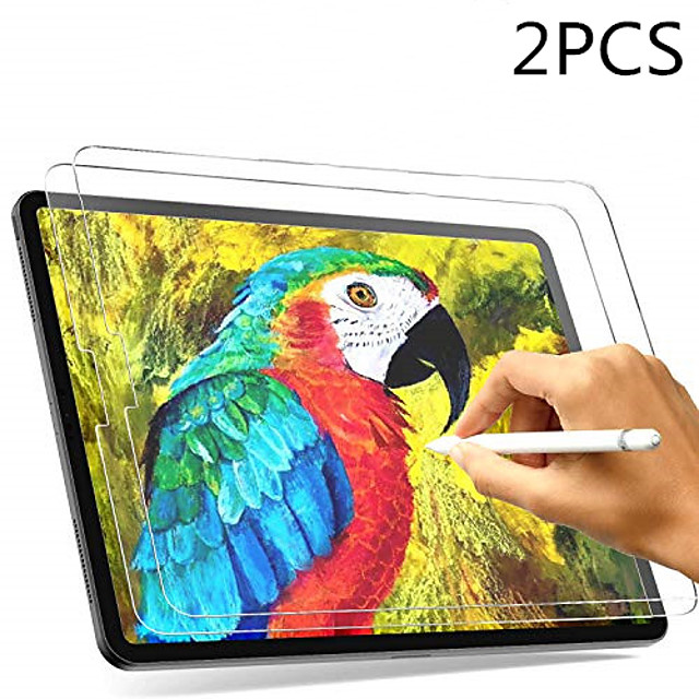 2pcs Paperlike Screen Protector for iPad Pro Screen Protector for Apple iPad Air Drawing High Touch Sensitivity Anti Glare Film Compatible with Apple Pencil & Face ID