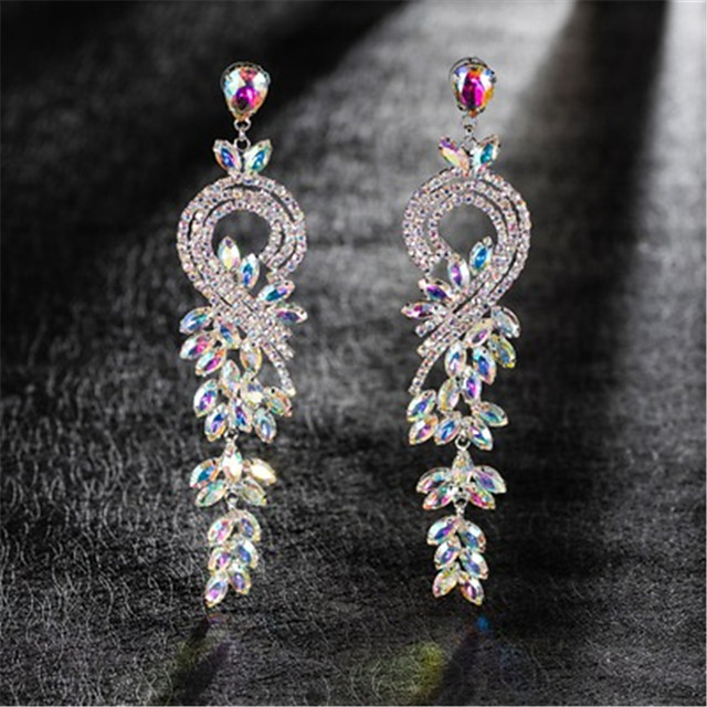 Women's AAA Cubic Zirconia Earrings Round Cut Floral Theme Stylish Artistic Luxury Trendy Platinum Plated Earrings Jewelry Silver For Christmas Wedding Party Gift Festival 1 Pair