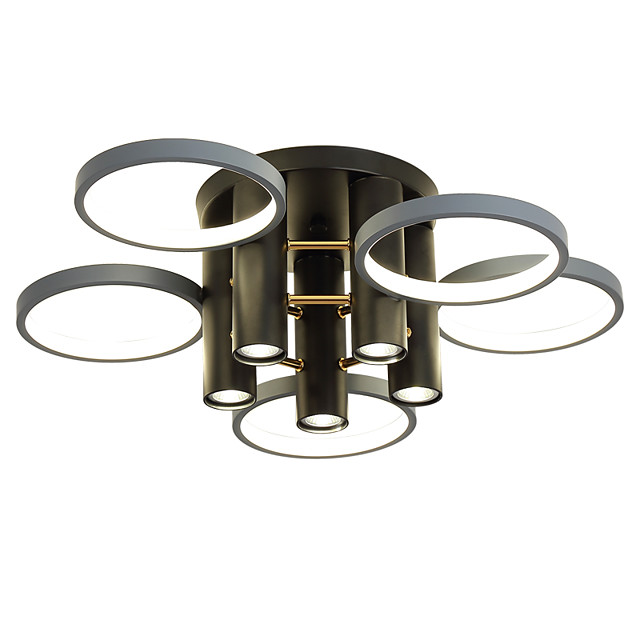 65 cm Dimmable  Cluster Design Circle Design Flush Mount Lights Metal Basic Painted Finishes Nature Inspired  Nordic Style 220-240V
