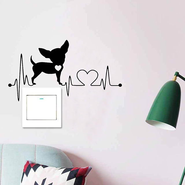 Animals Switch Wall Stickers Animal Wall Stickers Decorative Wall Stickers PVC Home Decoration Wall Decal Wall / Switch Decoration 1pc