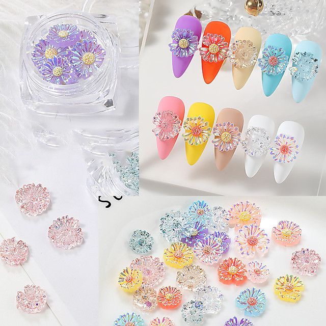 1 pcs Creative / Light and Convenient Crystal Nail Jewelry For Finger Nail Daisy nail art Manicure Pedicure Party / Evening / Festival Romantic / Sweet