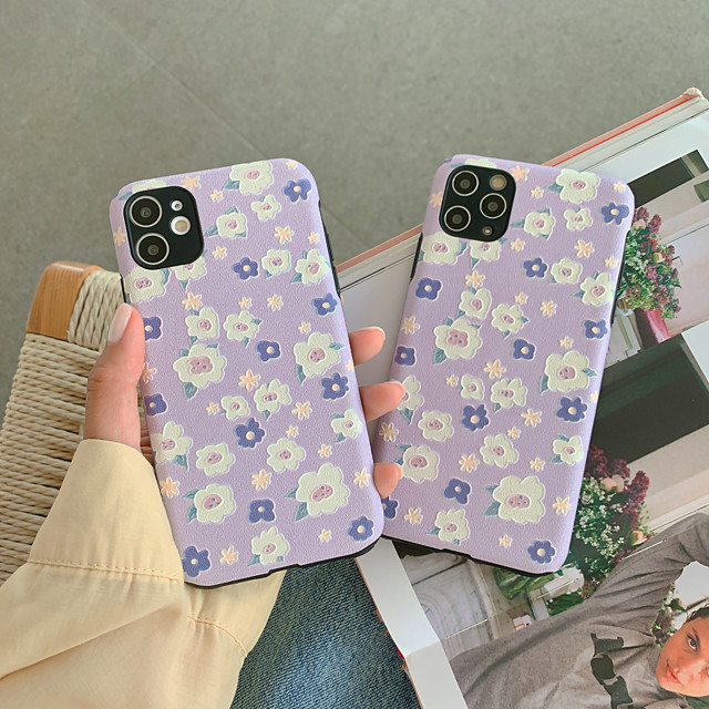 Case For Apple iPhone 11 / iPhone 11 Pro / iPhone 11 Pro Max Shockproof Back Cover Flower TPU