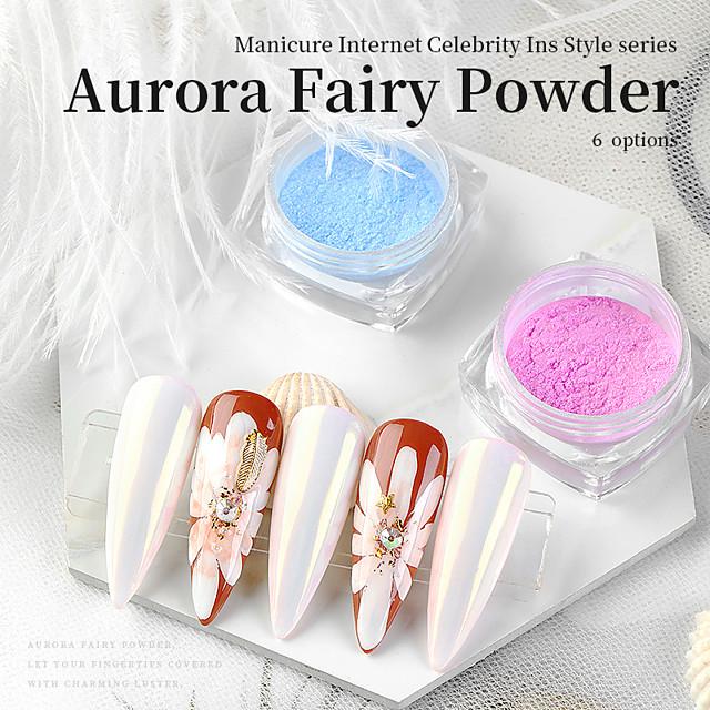1 pcs Multi Function / Creative / Wearproof Glitter Glitter Powder For Finger Nail Creative nail art Manicure Pedicure Party / Evening / Daily / Festival Trendy / Romantic