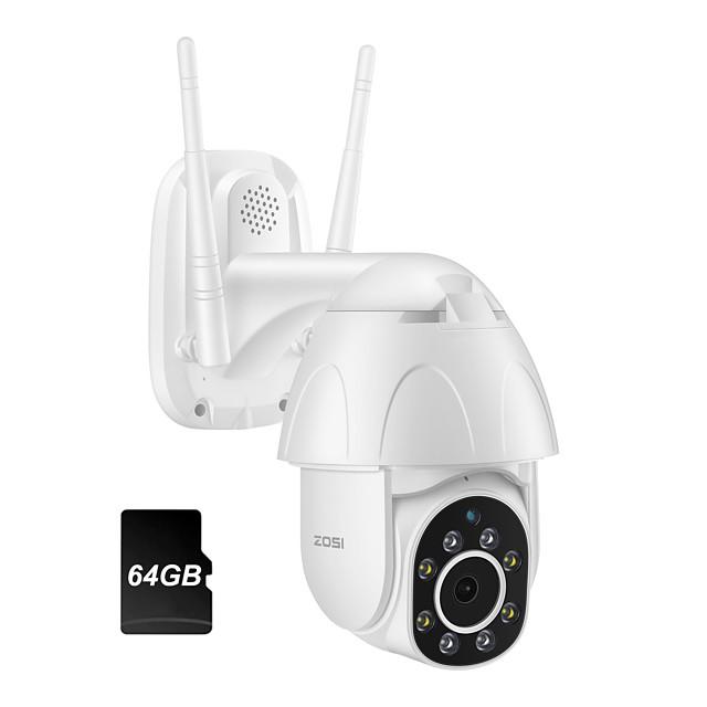 ZOSI 1080P PTZ IP Camera Wifi Outdoor Speed Dome Wireless Wifi Security Camera Pan Tilt 4X Digital Zoom 2MP CCTV Surveillance