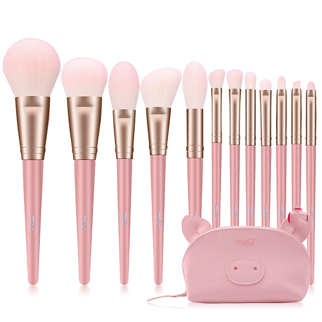 Professional Makeup Brushes 12pcs Professional Full Coverage Comfy Artificial Fibre Brush Wooden / Bamboo for Blush Brush Foundation Brush Makeup Brush Eyeshadow Brush