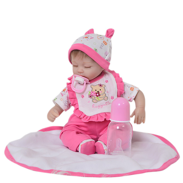 Reborn Baby Dolls Clothes Reborn Doll Accesories Cotton Fabric for 17-18 Inch Reborn Doll Not Include Reborn Doll Bear Soft Pure Handmade Girls' 5 pcs