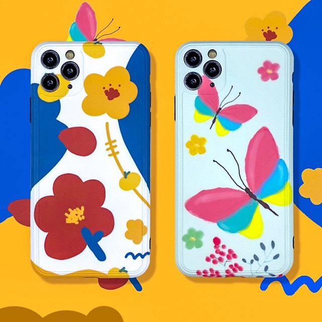 IMD Flower TPU for Apple iPhone Case 11 Pro Max X XR XS Max 8 Plus 7 Plus SE(2020) Protection Cover