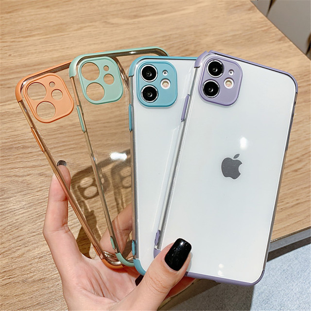 Crystal Clear Soft Silicone Phone Back Cover Cases For iPhone 11 Pro Max SE 2020 11 11Pro X XR XS Max 7Plus 7 8  8 Plus Full Camera Lens Protection