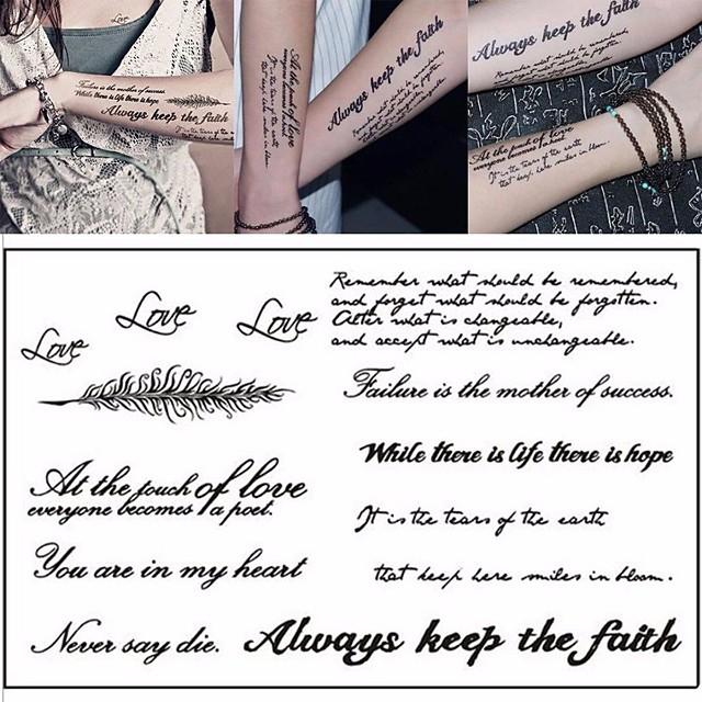 LITBest 3 pcs Temporary Tattoos Classic / Best Quality brachium / Shoulder / Leg Paper Tattoo Stickers