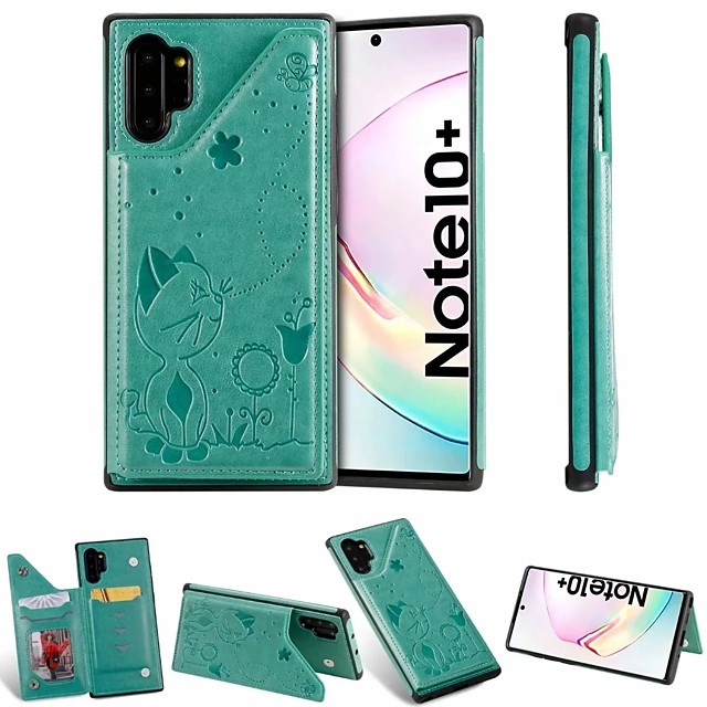 fodral Till Samsung Galaxy Note 9 / Note 8 / Samsung Note 10 Korthållare / med stativ Skal PU läder