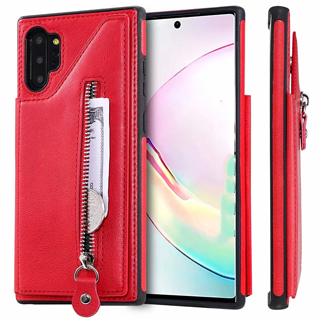 Case For Samsung Galaxy Note 9 / Note 8 / Samsung Galaxy A50 Card Holder Back Cover Solid Colored PU Leather gor Samsung Note 10 / Note 10 Plus / A30S / A50S