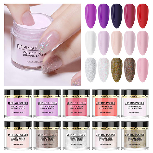 1 pcs Water Resistant / Novelty Glitter Glitter Powder For Finger Nail Creative nail art Manicure Pedicure Party / Evening / Prom Trendy / Sweet