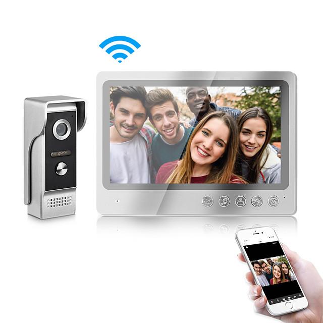 WiFi Intercom Video Doorbell Intercom System 9 Inch Wired Video Door Phone Doorbell Camera with Snapshot and Video Record
