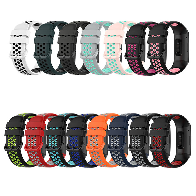 Watch Band for Fitbit charge3 / Fitbit Charge 4 Fitbit Sport Band / Classic Buckle Silicone Wrist Strap