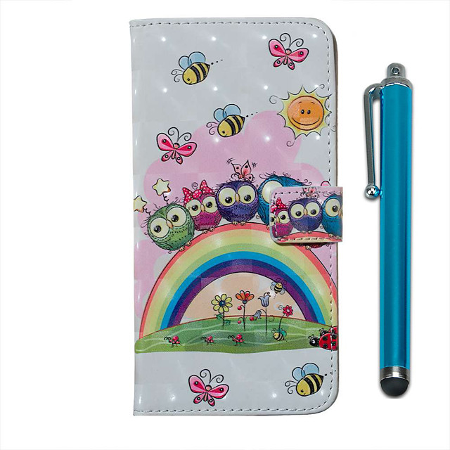 Case For Samsung Galaxy S20 S20 Plus S20 Ultra Wallet Card Holder with Stand Full Body Cases Rainbow Owl Family PU Leather TPU for Galaxy A51 A71 A01 A50(2019) A30S(2019) A70(2019) A20(2019)