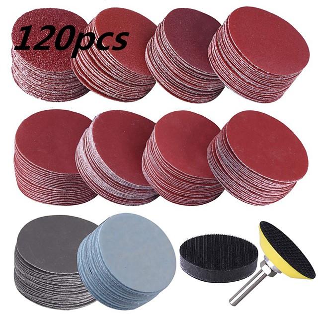 50 mm 2 inch 1 Stick Plate  60 Sandpaper Sand Plate Disc Flannelette Polishing Polishing Abrasive Sheet Sets