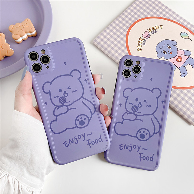 INS Korea cute funny birthday party blue hat bear couple phone case for iphone Xs MAX se 2020 XR X 7 8 plus soft TPU back cover