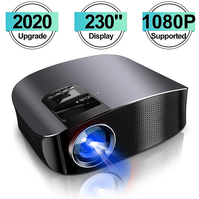 2020 projector YG600 HD-videoprojector Beamer Outdoor-filmprojector Home Theatre-projector Ondersteuning 1080P Compatibel met TV-stick PS4 HDMI VGA AV en USB