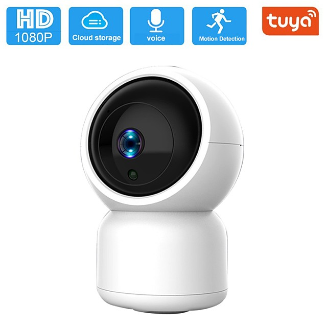 1080P Security Camera HM203 UG WiFi Home Indoor Camera with Smart Night Vision/2 Way Audio/Motion Detection Wireless IP Dog Camera for Baby/Pet/Nanny Monitor Cloud/MicroSD Support