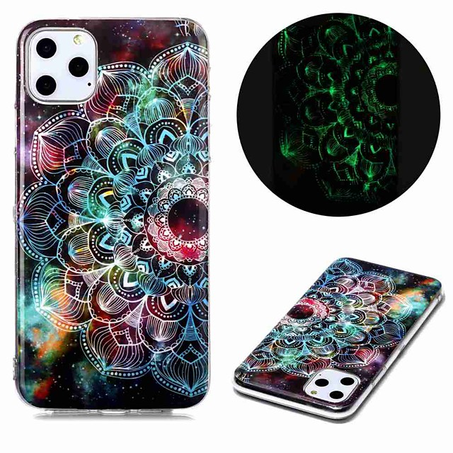 Case For Apple iPhone 11 / iPhone 11 Pro / iPhone 11 Pro Max Glow in the Dark / Pattern Back Cover Flower TPU