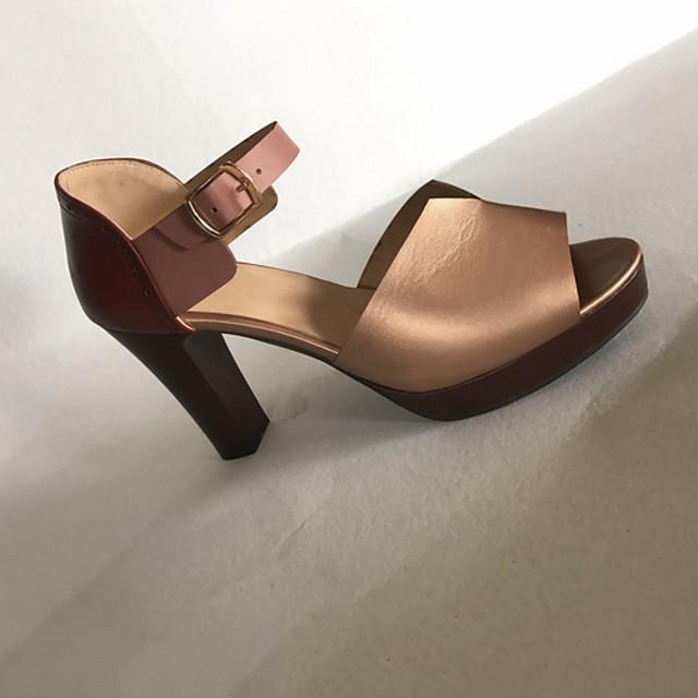 Women's Sandals Stiletto Heel Open Toe Daily PU Summer Black / Red / Brown