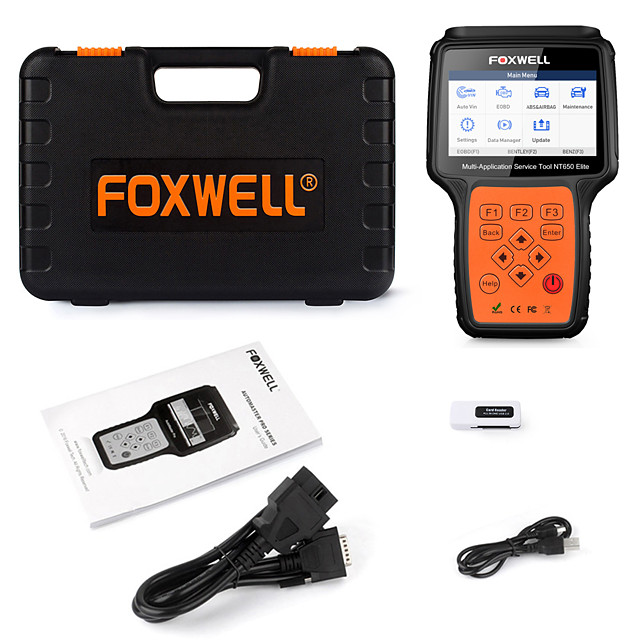 Foxwell NT650 Elite OBD2 Code Reader Scanner Engine ABS Airbag EPB Oil TPMS 20 Reset ODB2 Diagnostic Tool OBD Automotive Scanner
