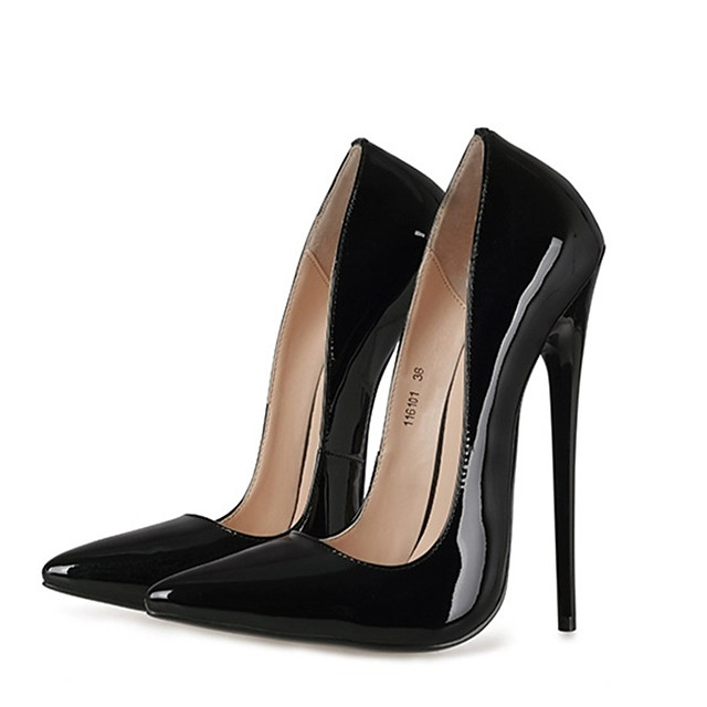 Women's Heels 2020 Summer / Fall Stiletto Heel Pointed Toe Sexy Wedding Party & Evening Solid Colored Patent Leather Black / Red