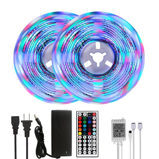 MASHANG Bright RGBW LED Strip Lights 32.8ft 10M RGBW Tiktok Lights 2340LEDs SMD 2835 with 44 Keys IR Remote Controller and 100-240V Adapter for Home Bedroom Kitchen TV Back Lights DIY Deco