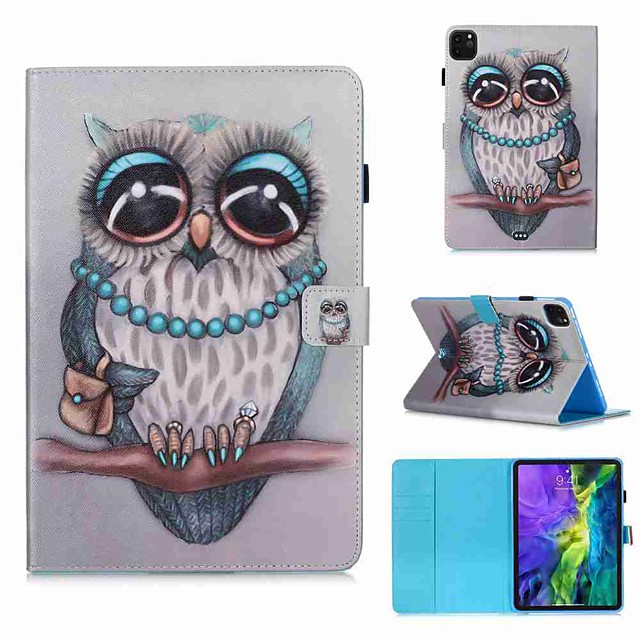 Case For Apple iPad Air / iPad 4/3/2 / iPad (2018) Wallet / Card Holder / with Stand Full Body Cases Animal PU Leather / TPU