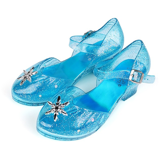 Princess Elsa Shoes Girls' Movie Cosplay LED Shoes Blue Shoes Children's Day Masquerade Plastics